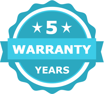 until 5 years of warranty